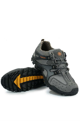 Athletic Trekking Shoes  In Gray