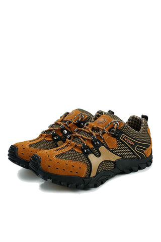 Athletic Trekking Shoes  In Brown