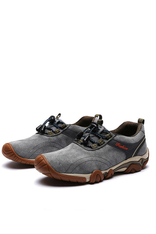 Grey Waterproof Trekking Shoes