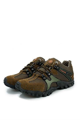 Athletic Trekking Shoes  In Army Green