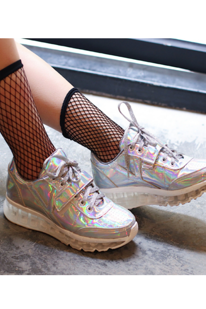 Hologram Silver Sneakers