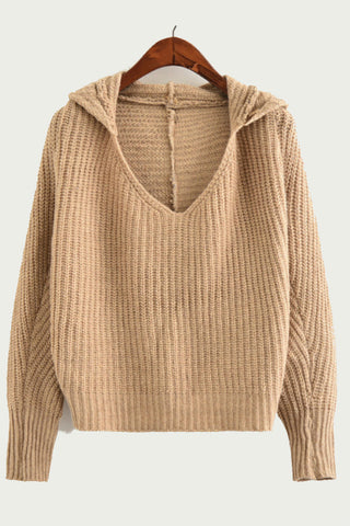 Orange Hoodie Knit Sweater