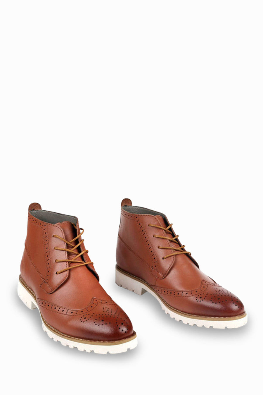 Brogue Oxford Boots In Brown
