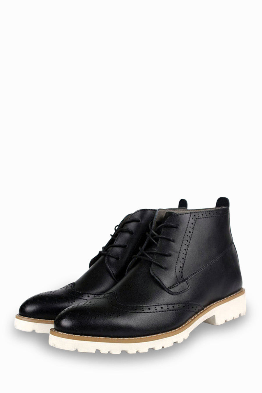 Brogue Oxford Boots In Black