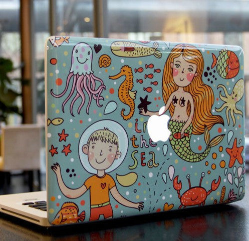 Macbook In The Sea Decal Sticker. Art Decals By Moooh!!