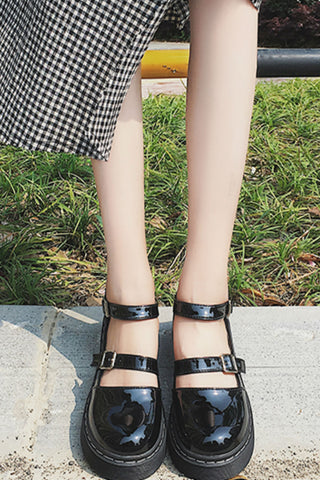 Black Patent Cute 🌺 Shoes