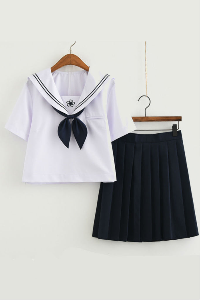 JK Sakura Tie Up Uniform Navy 🐳