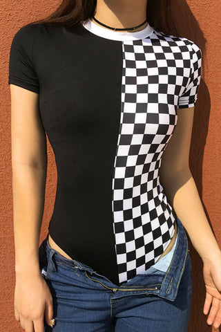 Checker Bodysuit