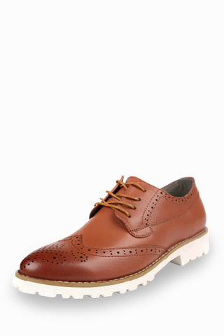 Leather Dress Shoes in Cuoio