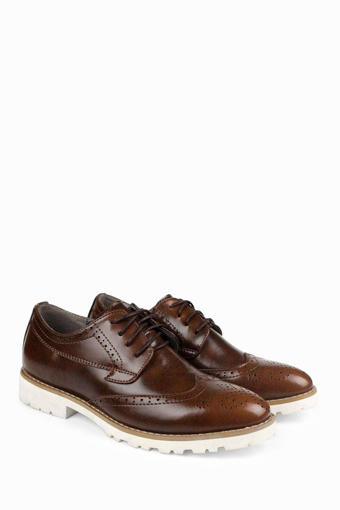Patent Leather Dress Shoes In Dark Brown