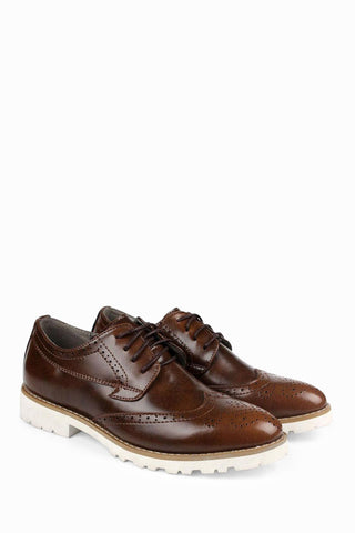 Leather Dress Shoes In Brown