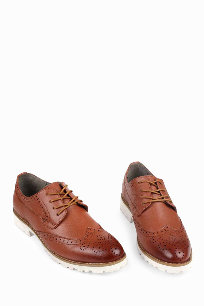 Patent Leather Dress Shoes In Coffee Brown