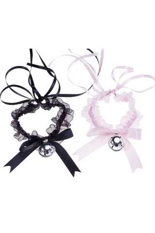 Harajuku Lace Kitty Bell Choker