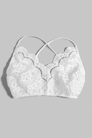 Lacy Criss-cross Back Bralette