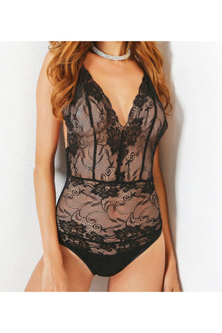 V-neck Lace Bodysuit