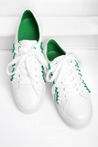 Trim Detail Lace Up Sneakers