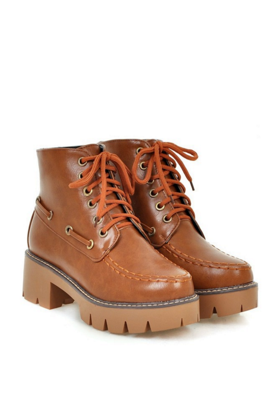 Brown Lace Up Martin Boots