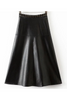 Black Rivets Leather Skirt