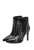Black Studded High Heels Boots
