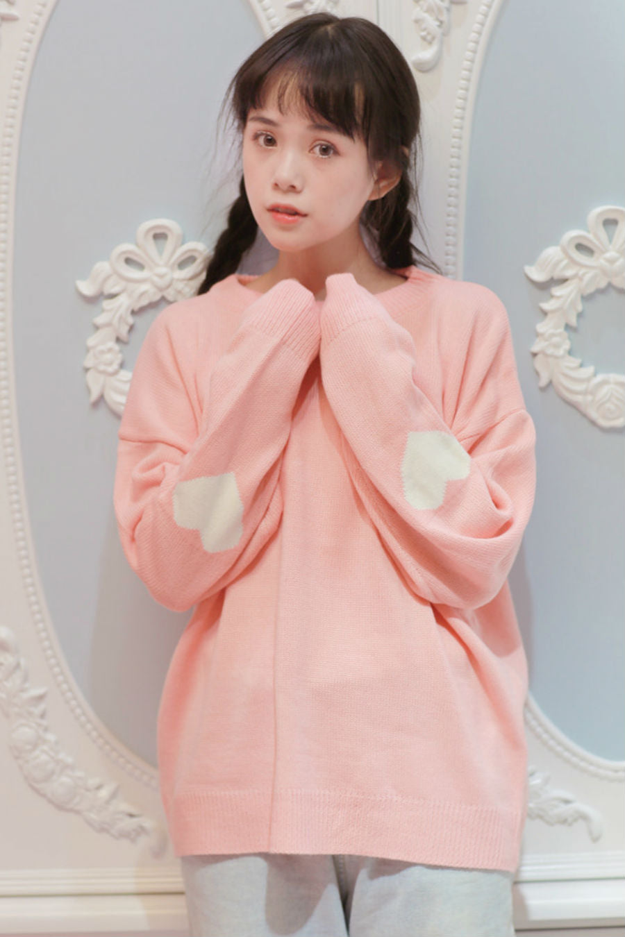 Sweet Pink Heart Sweater