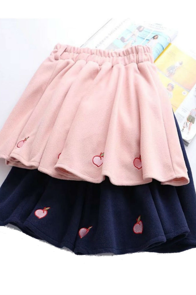 Peach Woolen Skirt