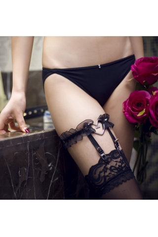 Lovely Heart Lace Garter Belt
