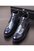 Patent Fashion Boots In Navy