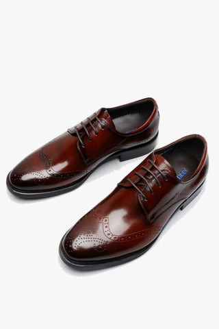 Burgundy Brogue Oxford Shoes
