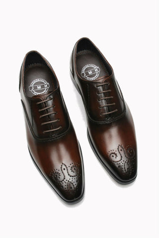 Burgundy Brogue Oxford Loafer