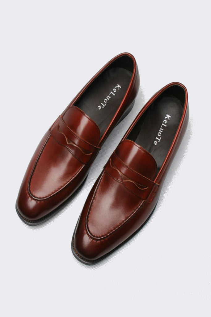 Classic Burgundy Dress Loafer