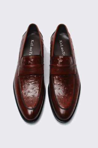 Burgundy Hand Mand Dress Loafer
