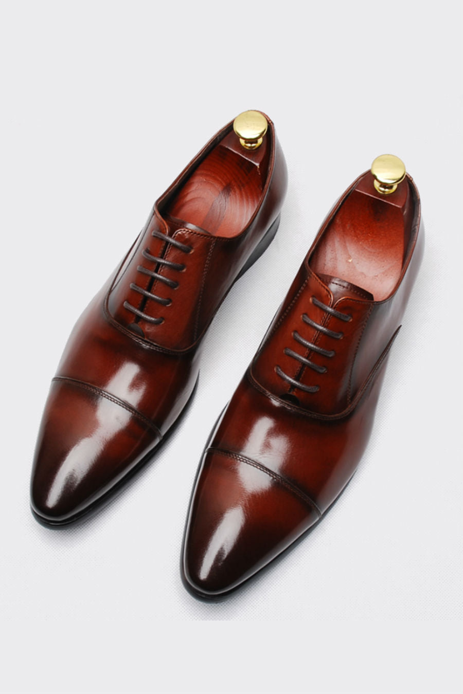 Burgundy Lace Up Oxford Shoes