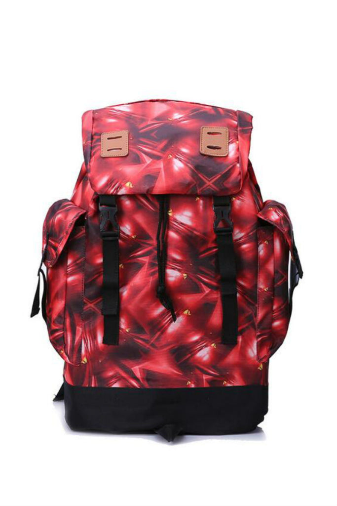 Large Capacity Backpack In Red
