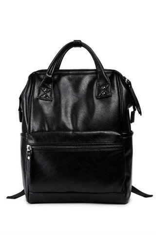 Black Leather Classic Bag