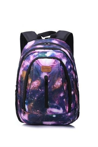 Purple Galaxy Travel Backpack