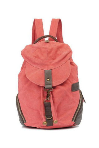 Vintage Red Cap Travel Backpack