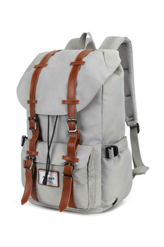 Big Capacity Nylon Travel Backpack In Gray