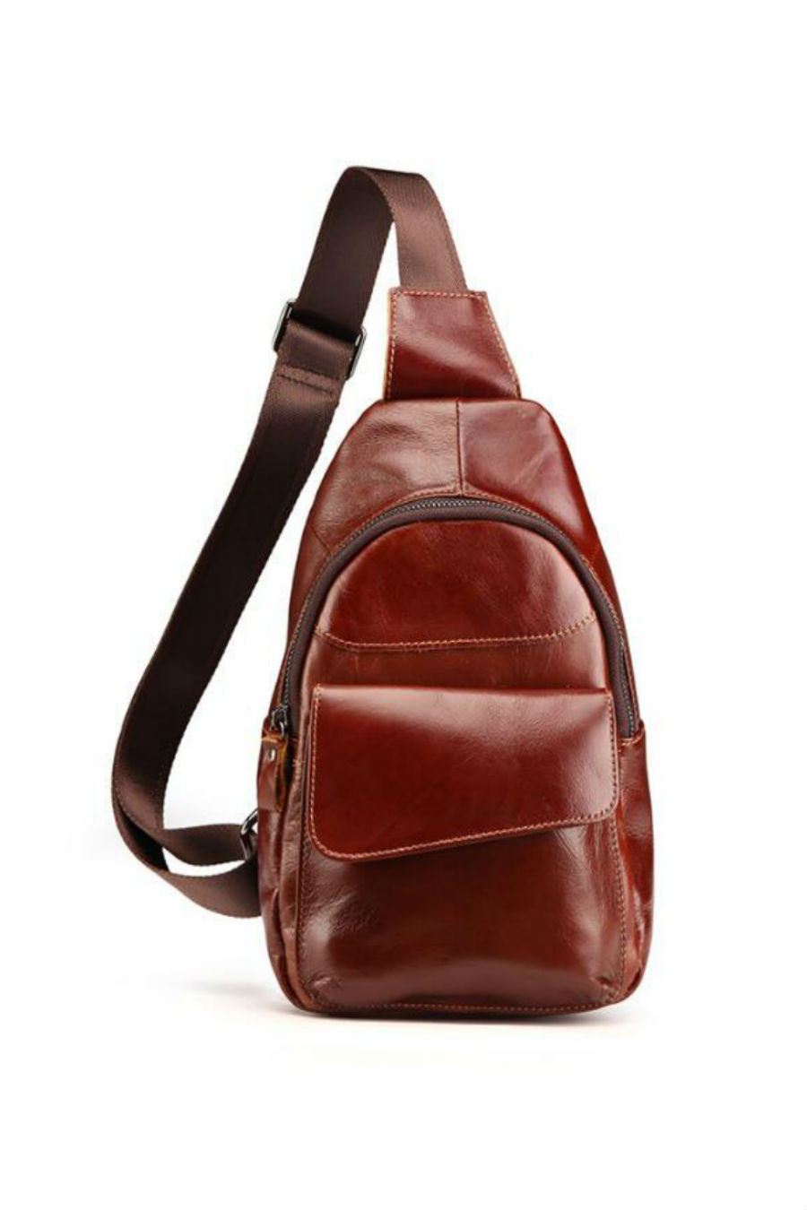 Men's Genuine Leather Sling Bag