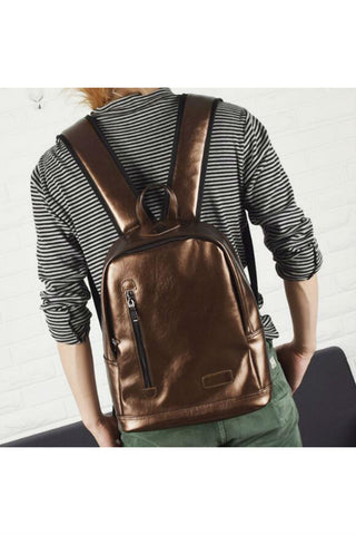 Men Classic Brown Travel Backpack