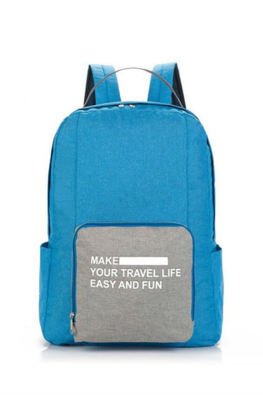 Blue Foldable Travel Backpack