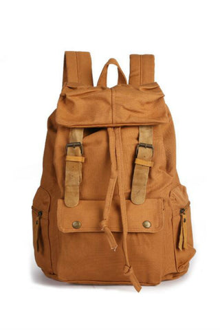 Vintage Brown Travel Backpack