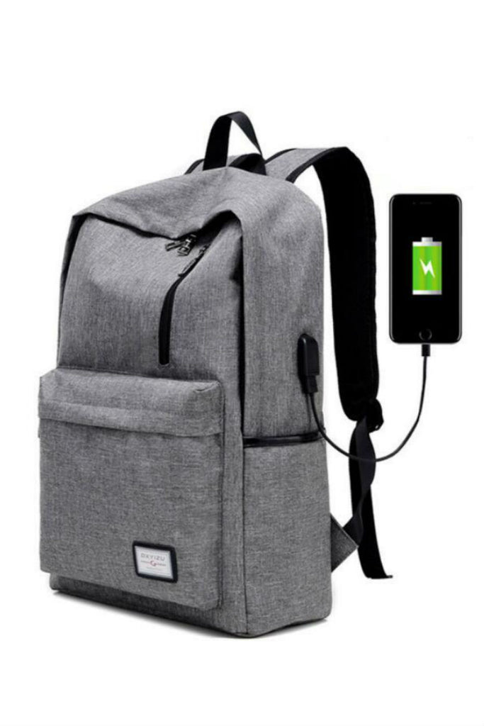 Canvas USB Travel Backpack