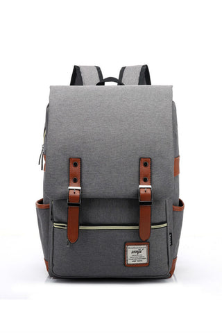 Grey Big Capacity Travel Backpack