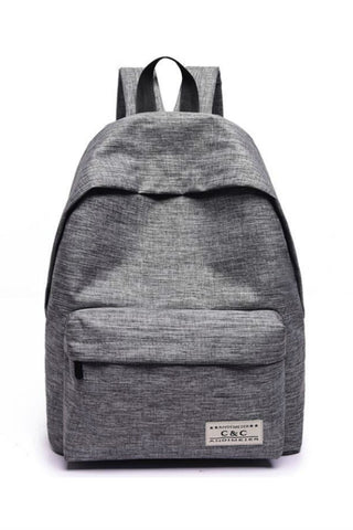 Gray Minimal Backpack