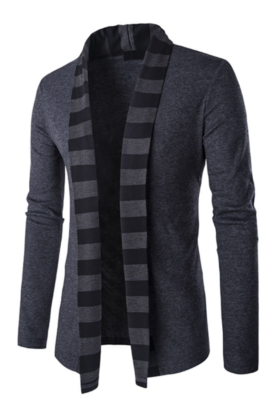 Stripe Open Front Cardigan