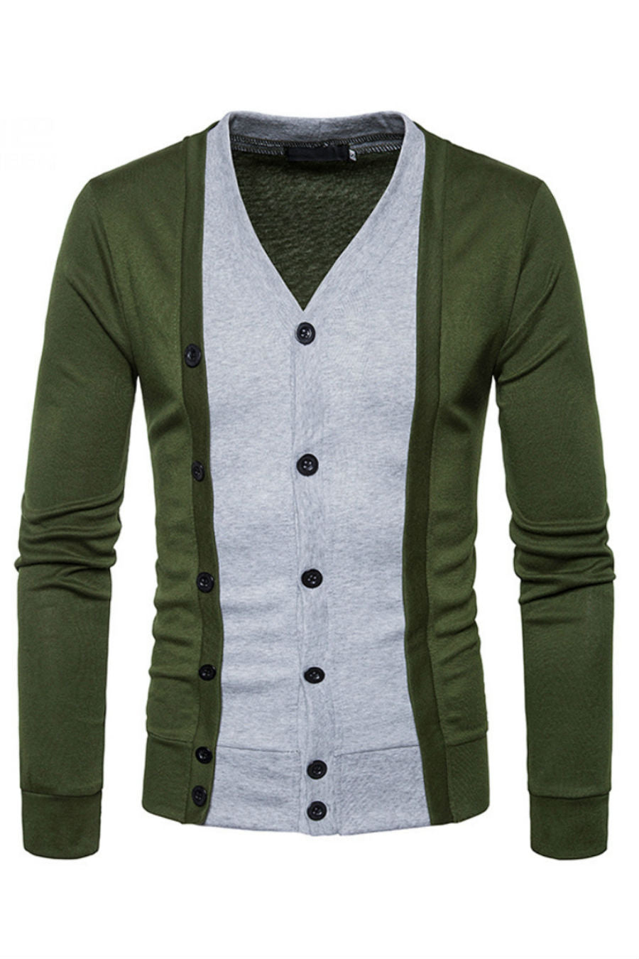Green Button Up Cardigan