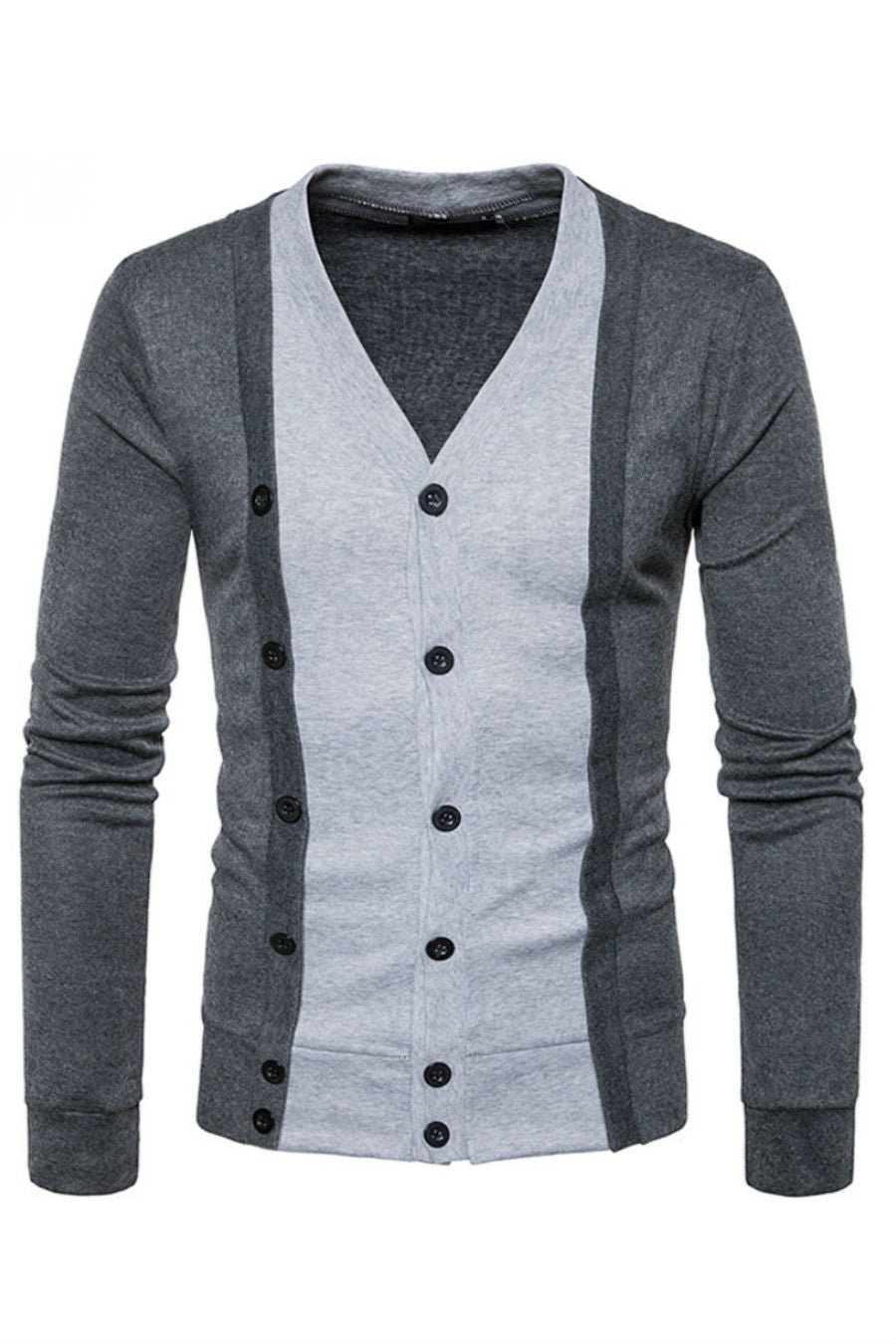 Grey Button Up Cardigan