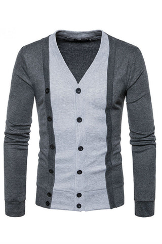 Gray Button Up Cardigan