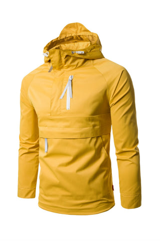 Men's Hoodie Jacket In Yellow