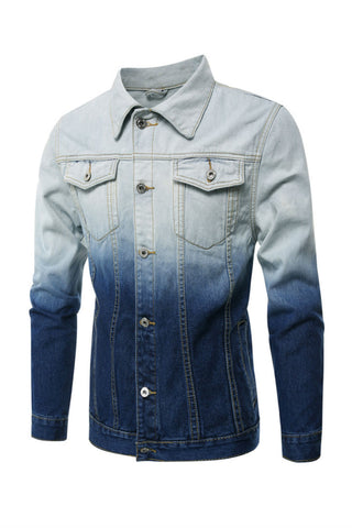 Men' Gradient Denim Jacket